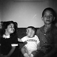 Me, Tim, Tom as children 1961